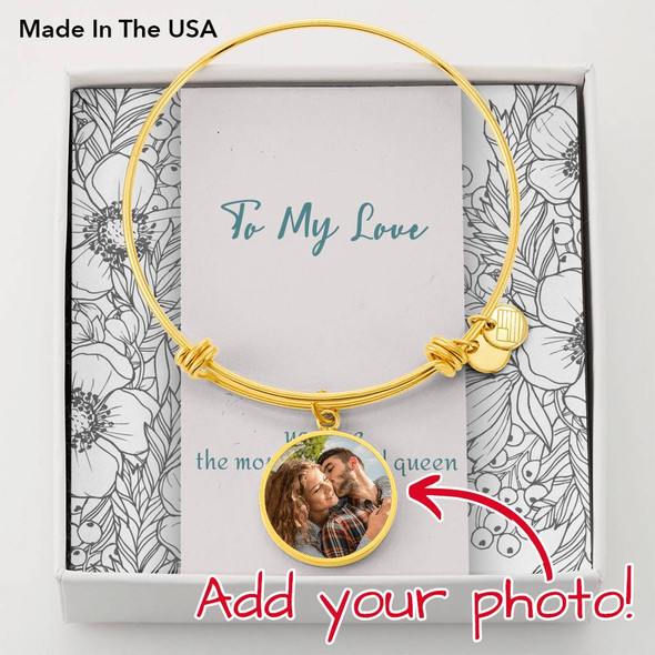 Circle Bangle with POD Message Card To My Love