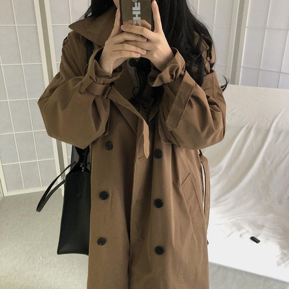 Chic Trench Coat Casual Long Outerwear Loose Overcoat
