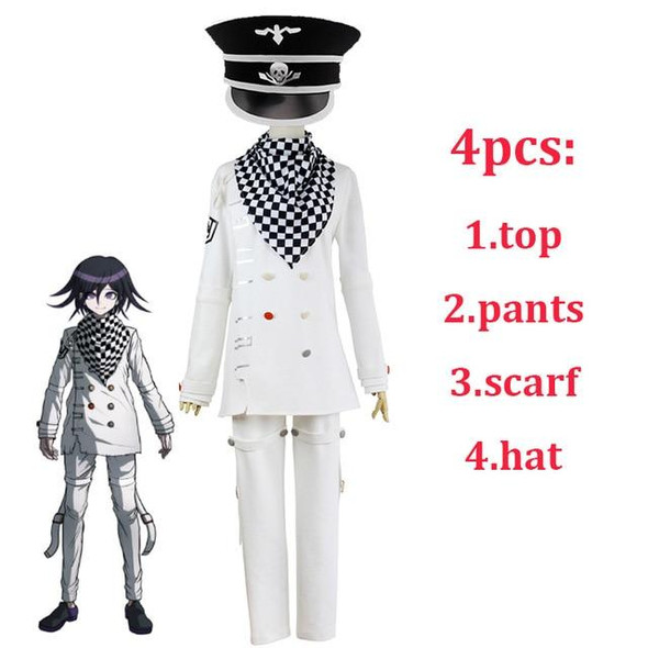 2020 Danganronpa V3 Ouma kokichi Cosplay Costume Japanese Game School Uniform Suit Outfit Clothes shoes Halloween Carnival Props