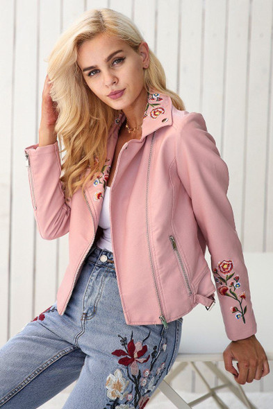 Simplee Embroidery Jacket Coat