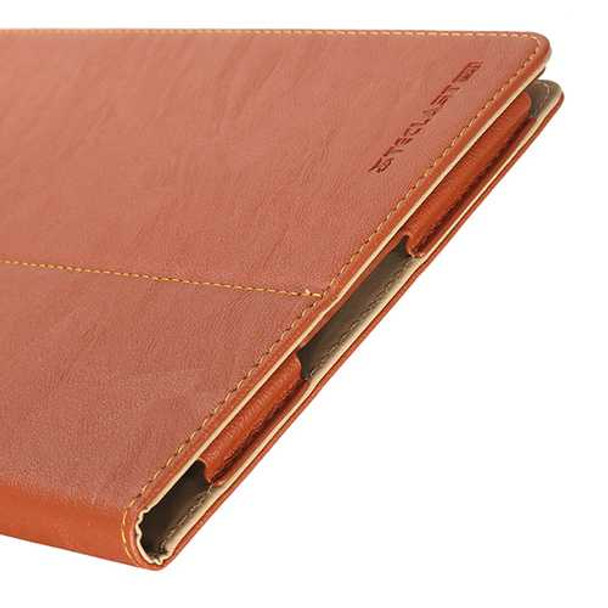 Original Tree-veins Leather Case Cover for Teclast P10 Brown