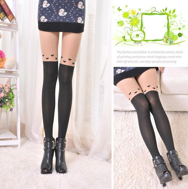 New Sexy Stockings Women Cute Cat Tail Stockings Female Catoon Stockings Sexy Sheer Pantyhose Long Sexy tights Hosiery