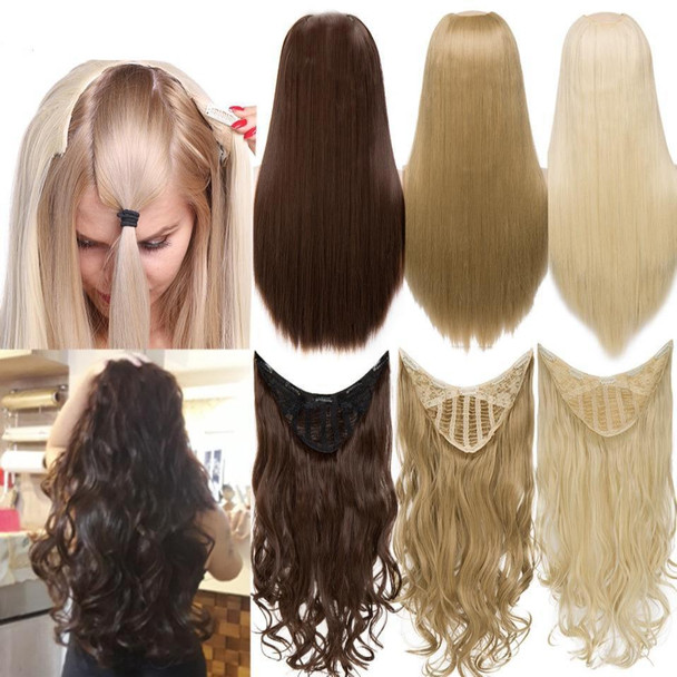U-Part Synthetic Hair Extension Clips In one piece