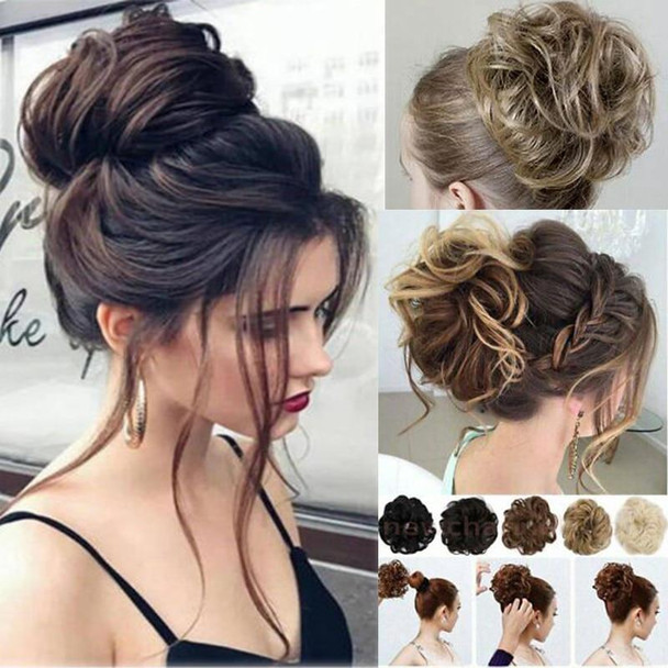 Curly Wavy Bun Hair Extensions for Women