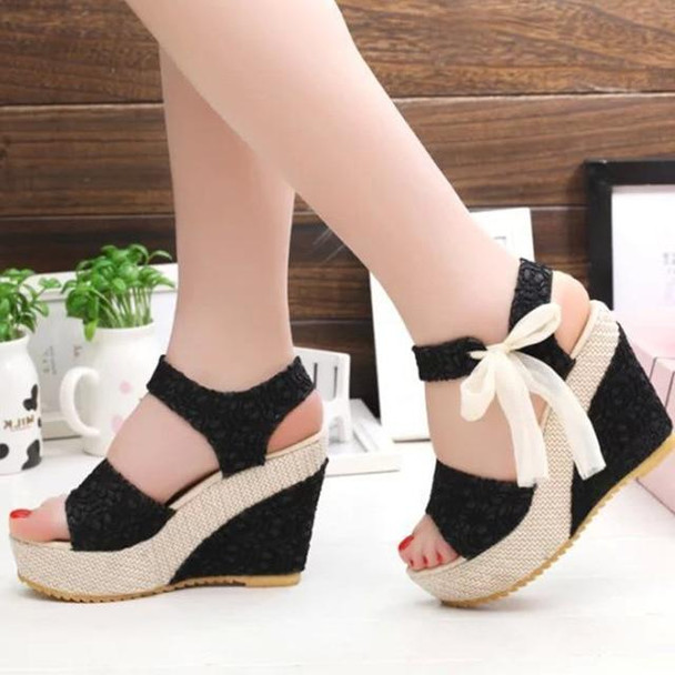 lace Leisure Women Wedges heeled women Shoes