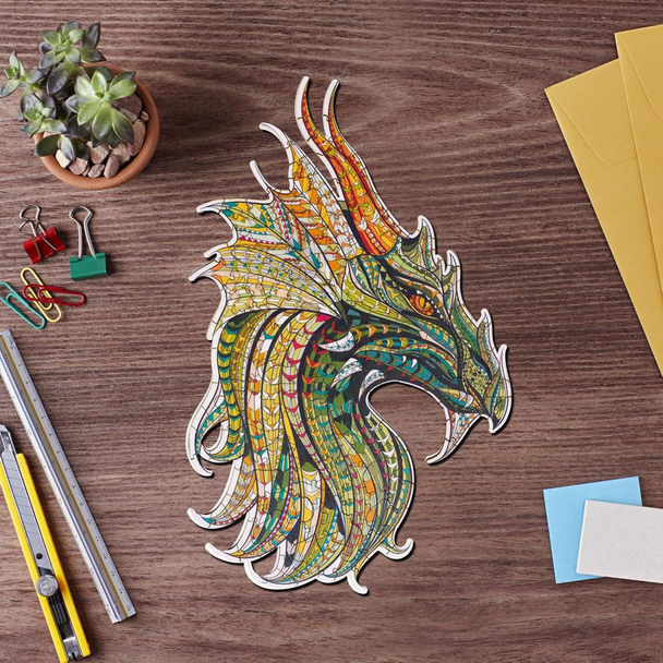 Wooden Jigsaw Puzzle Mysterious Dragon