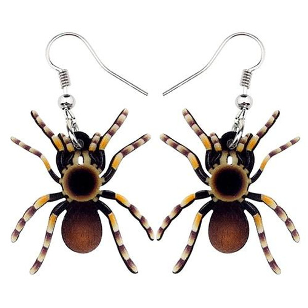 FREE OFFER Acrylic Halloween Floral Spider Earrings