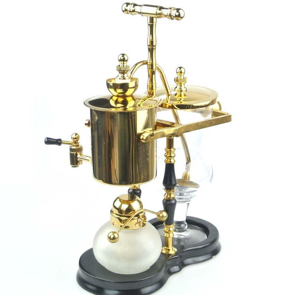 BB-9A Golden/Slivery ROYAL BELGIUM BALANCE COFFEE MAKER SIPHON SILVER FINISH SYPHON
