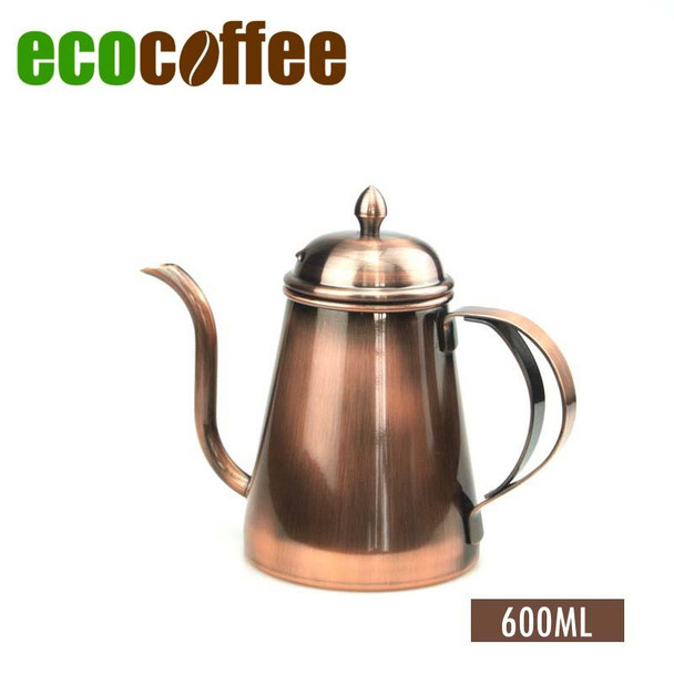 High Quality 600ML Stainless Steel  Coffee Kettle Teapot Coffee Pot