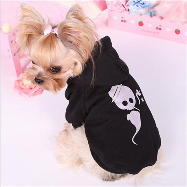 Spring And Autumn Pet Clothes Small Dog Hoodies Fashion Dog Sweatshirt 100% Cotton Clothing For Dogs Cats Hooded Dog Coat XS-L