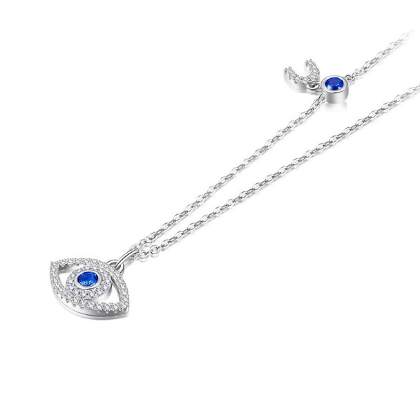 Turkish Evil Eye Blue Cubic Zirconia 925 Sterling Silver Necklace, Bracelet, and Ring Jewelry Set