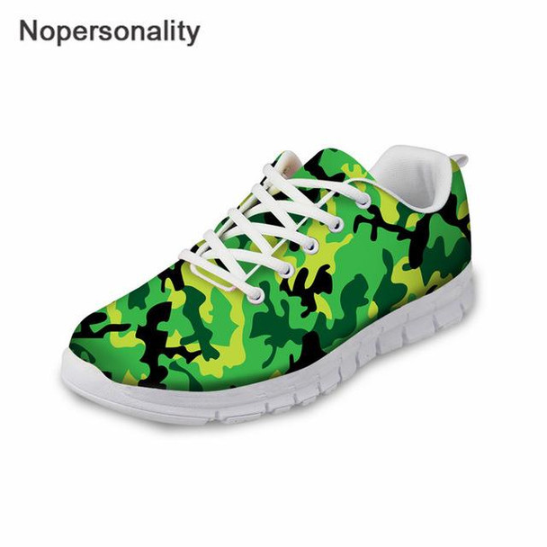 Green Camouflage Spring Autumn Flats Sneakers for Men