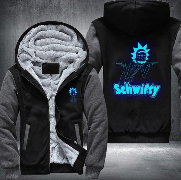 Rick and Morty Anime Thick Zipper hoodie