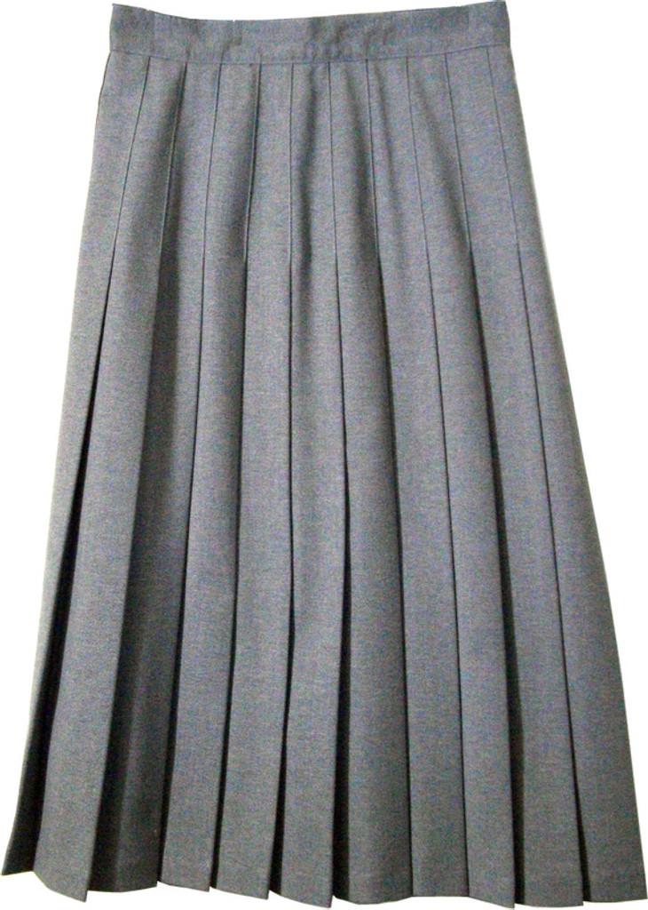 3aadfe3f5 Juniors School Uniform Pleated Skirt Heather Grey - Engelic Uniforms