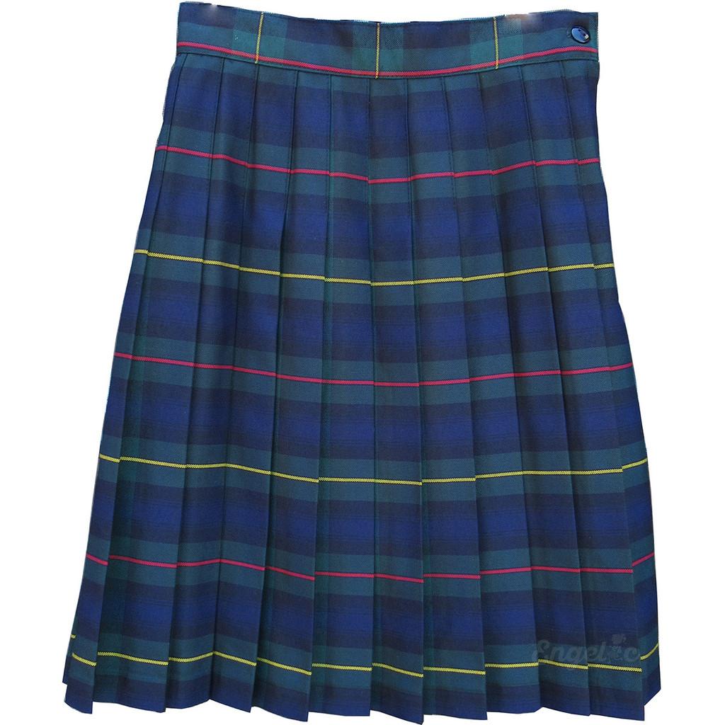Girls School Uniform Pleated Skirt Plaid #83