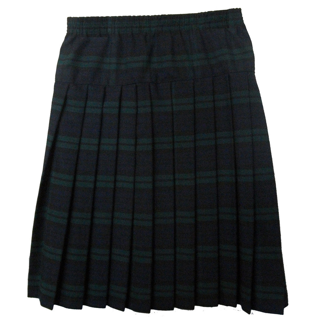 Girls School Uniform Yoke Pleated Skirt Plaid # 79 (BBYFR)