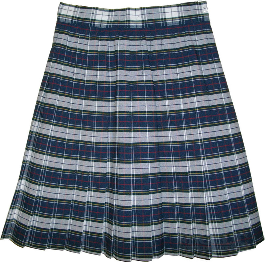 de9810a7a4 Girls School Uniform Pleated Skirt Plaid #8B GY - Engelic Uniforms