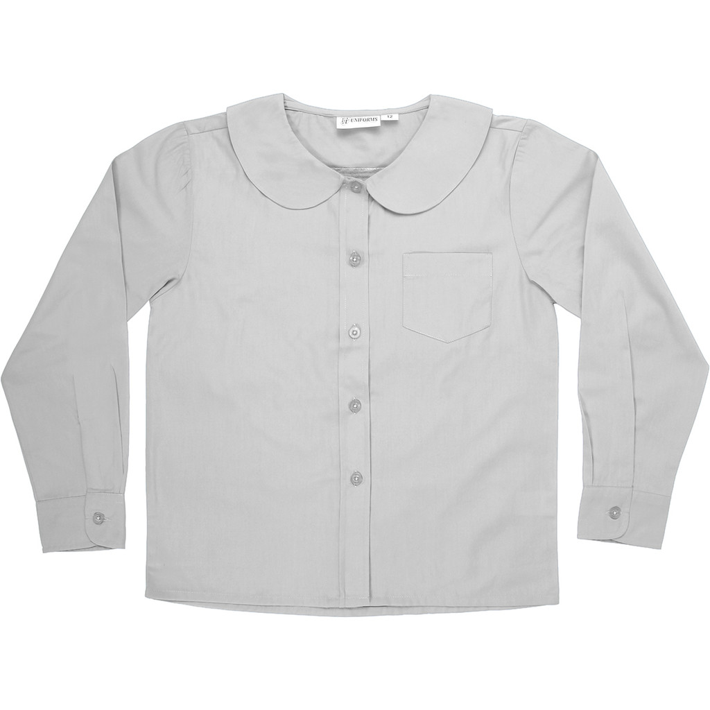 Peter Pan Blouse Long Sleeve Color White