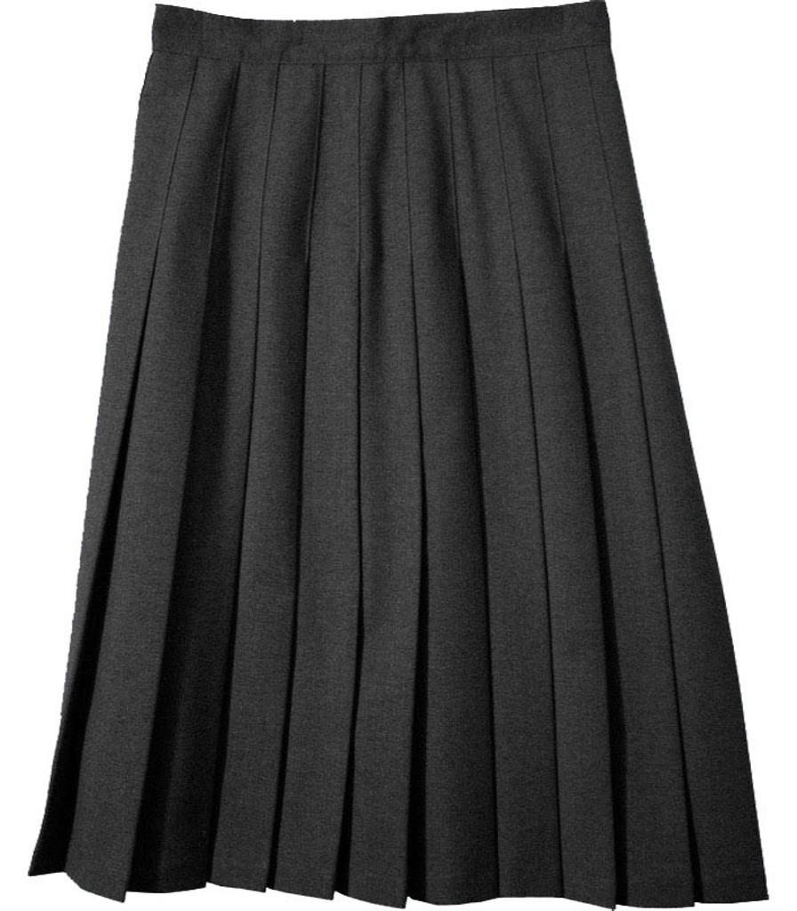 Juniors School Uniform Pleated Skirt  Black Poly Deluxe