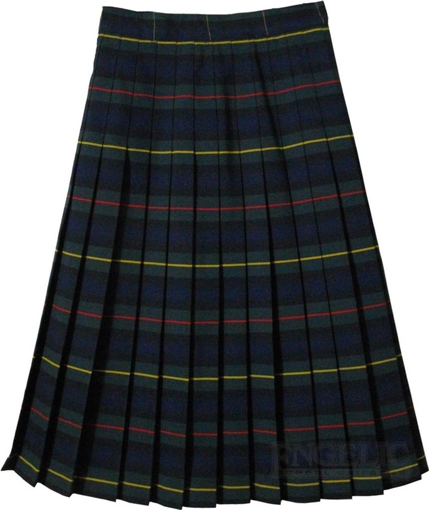 Girls School Uniform Junior Pleated Plaid Skirt