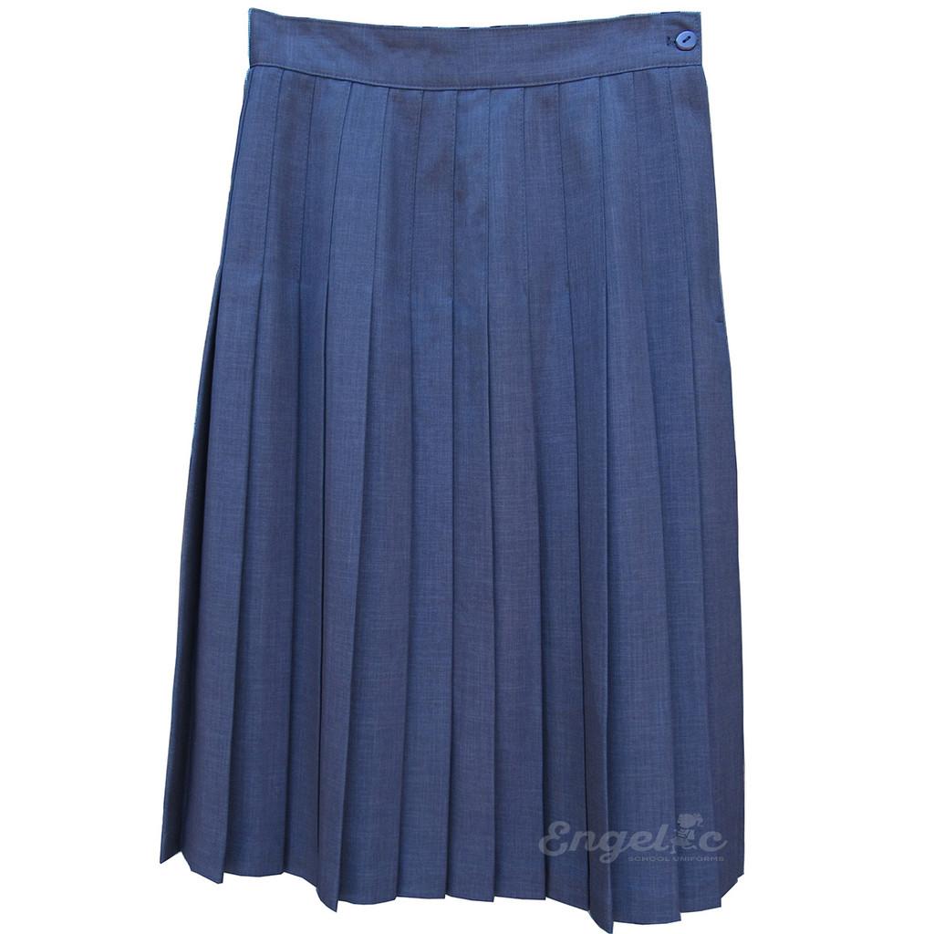 Juniors School Uniform Pleated Skirt Grey English Style Poly