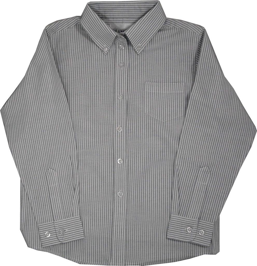 Oxford Blouses Grey White Stripe