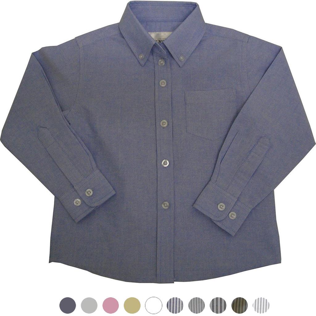 Girl's School Uniforms Oxford Long Sleeve Blouse