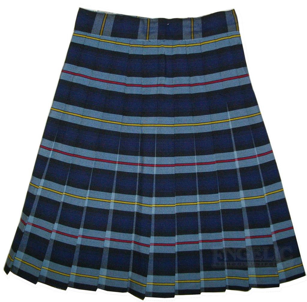Girls School Uniform Pleated Skirt Plaid Z