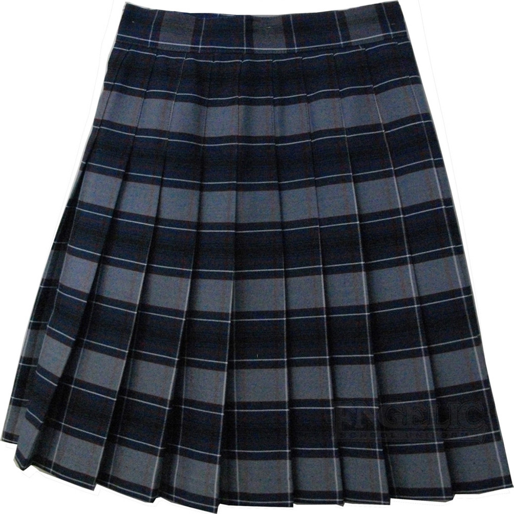 Girls School Uniform Pleated Skirt Plaid F