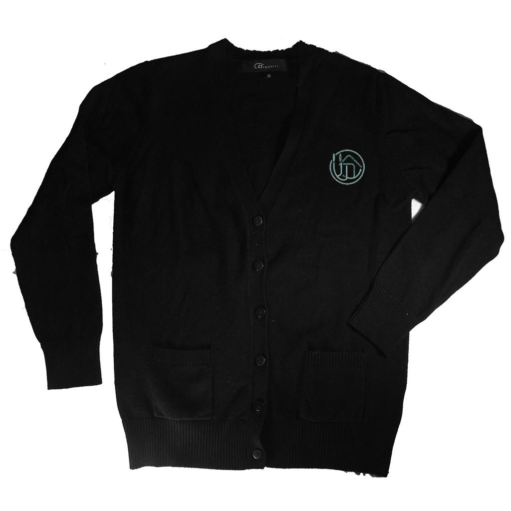 V-Neck Cardigan Sweater - 100% Cotton Bais Sarah H.S.