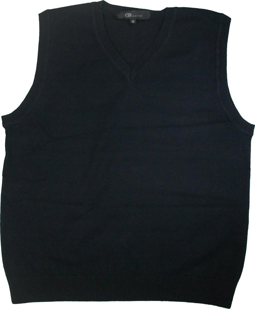 LJ Imports Girls Kids Sleeveless Cotton Sweater Vest | Navy Bais Tzivia