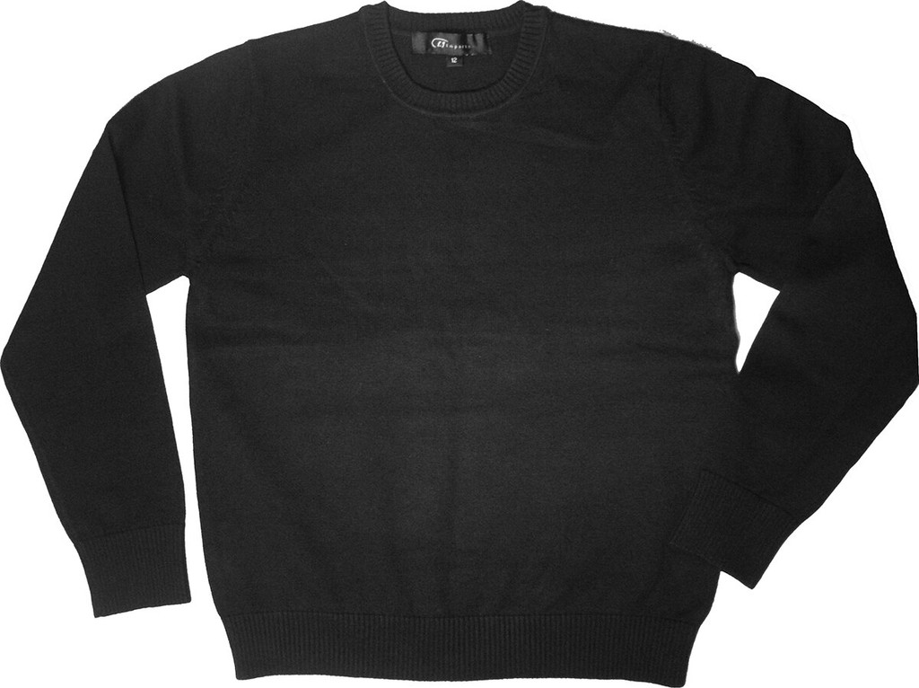 SWEATER CREW-NECK PULLOVER LONG SLEEVES W/BY Emb Shevach 100% COTTON
