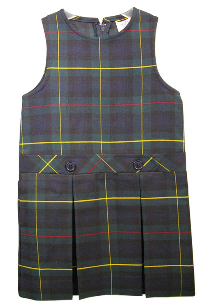 Box Pleated Low Waisted Jumper   Plaid G   Color  #83