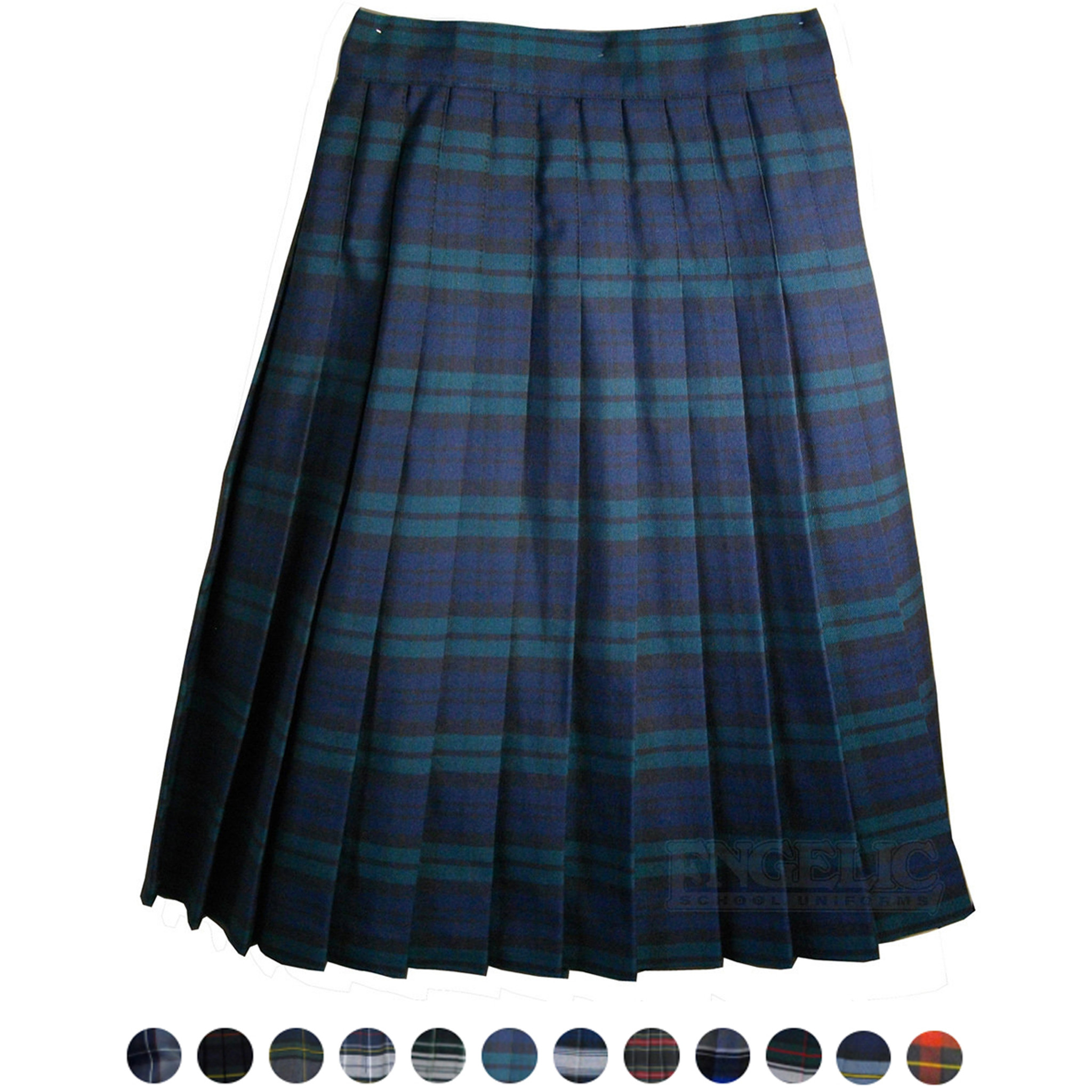 8d7f30d90f Girls School Uniform Plaid Pleated Skirt - Engelic Uniforms