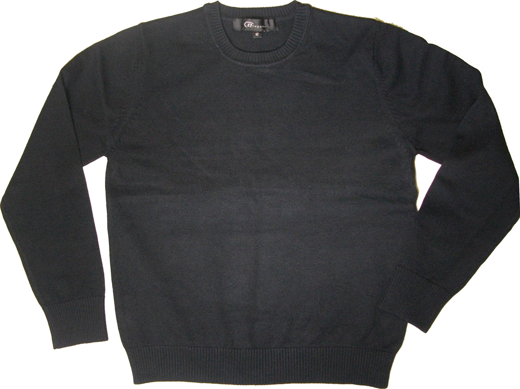 LJ Imports Crew Neck Sweater - 100% Cotton - Engelic Uniforms ce8a78f48