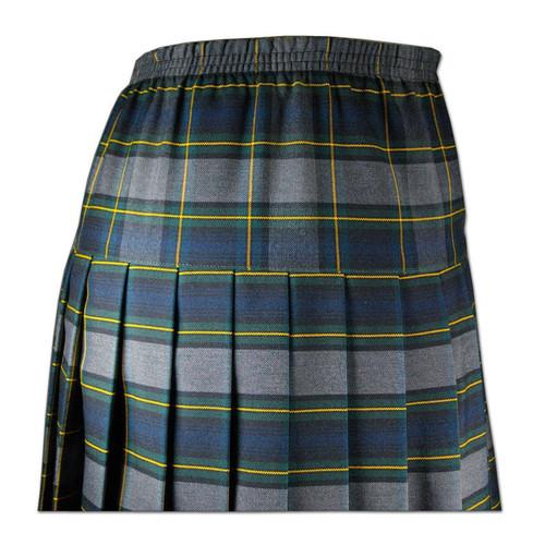 Girls School Uniform Yoke Pleated Skirt Plaid # 48