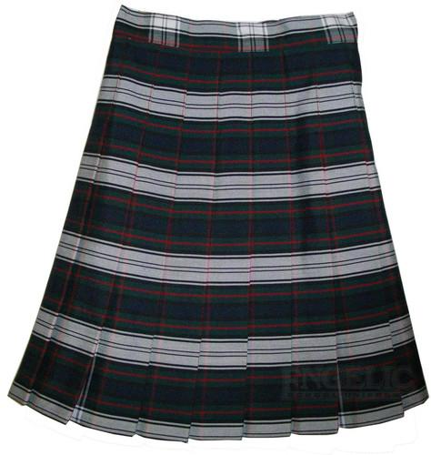 Girls School Uniform Pleated Skirt Plaid #50