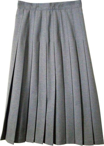 Juniors School Uniform Pleated Skirt Heather Grey