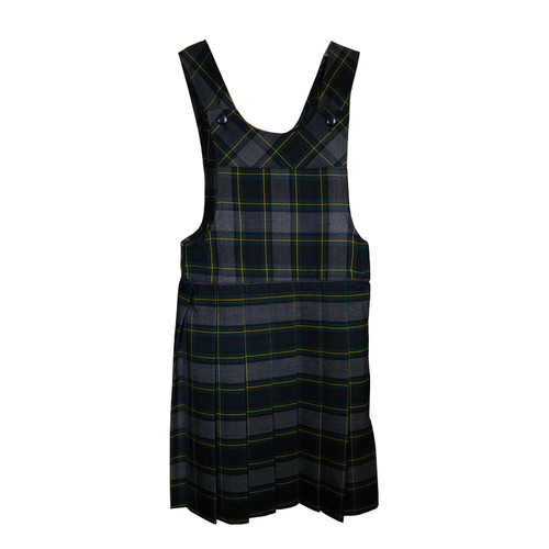 Bib Top Pleated Jumper with Piping | Plaid I | Color #48