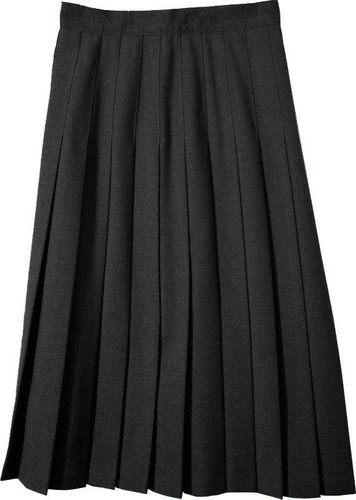Junior Skirt Pleats Stitched Down Polyester Black