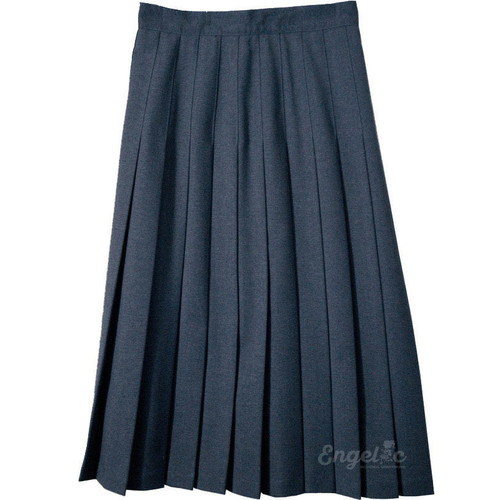 Junior Skirt Pleats Stitched Down Navy Poly Deluxe
