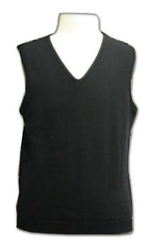 LJ Imports Kids Girls Sleeveless Cotton Sweater Vest  Black
