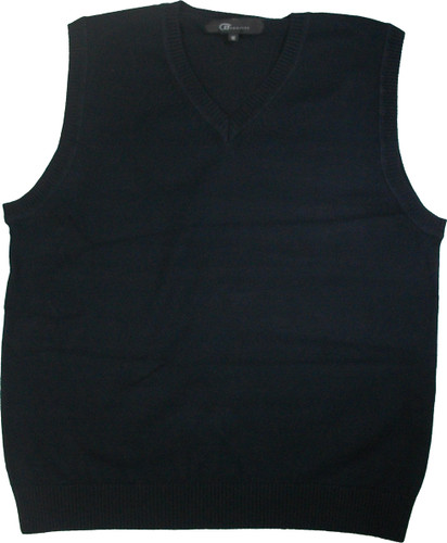 LJ Imports Girls Kids Sleeveless Cotton Sweater Vest   Navy