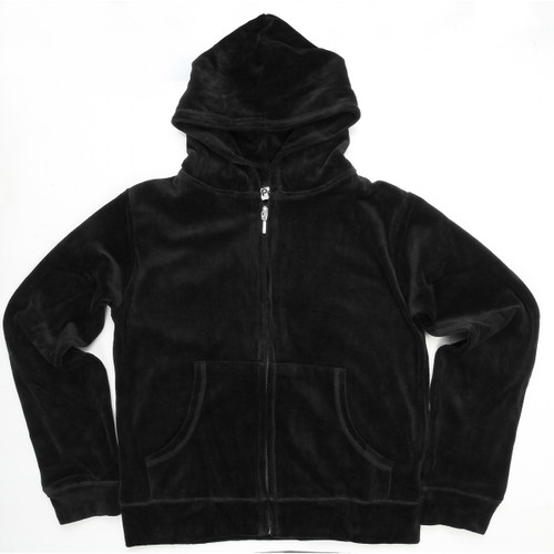 Black Hooded Velour's with Pocket