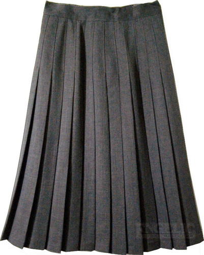 Juniors School Uniform Pleated Skirt Grey Poly/Wool