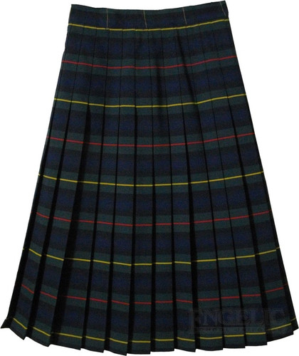 Girls School Uniform Junior Pleated Plaid Skirt