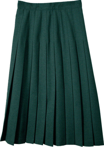 Juniors School Uniform Pleated Skirt Green Poly/Wool SCH