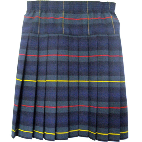 Girls School Uniform Yoke Pleated Plaid Skirt