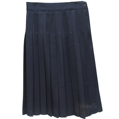 Girls School Uniform Pleated Skirt Navy