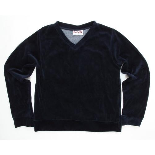 Girls  Velour V-Neck Pullover Long Sleeves